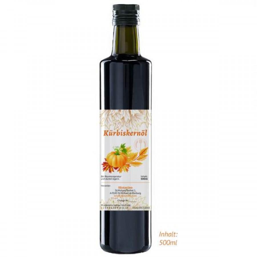 Histavinos Kürbiskernöl 500 ml – ein Naturprodukt aus Kärnten