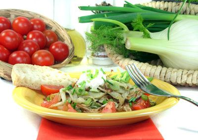 Fenchelsalat mit Kürbiskernen